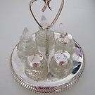 Silver and Crystal Cruet Set by Kathryn Jones