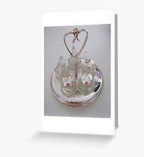 Silver and Crystal Cruet Set Greeting Card