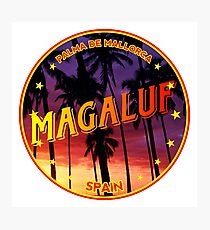 Magaluf, Magaluf t shirt, Magaluf sticker, Spain, with palmtrees Photographic Print