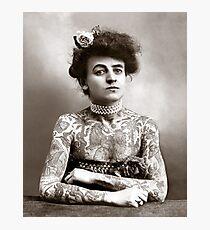 Tattooed Lady, 1907 Photographic Print