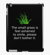 Bad Translation for Keep Off The Grass iPad Case/Skin