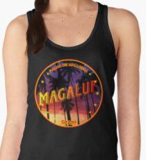 Magaluf, Magaluf tshirt, Magaluf sticker, Spain, with palmtrees, black bg Women's Tank Top