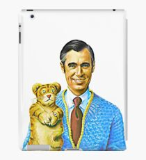 Mister Rogers and Daniel Portrait iPad Case/Skin
