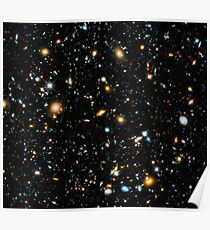 Hubble extremes tiefes Feld Poster