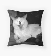 Cat Humour Throw Pillow