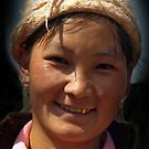 Hilltribe Girl, North Vietnam by Bev Pascoe