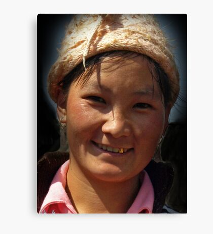 Hilltribe Girl, North Vietnam Canvas Print