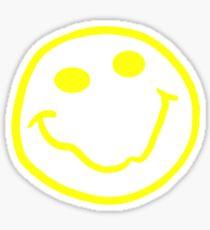 Nirvana style smiley face yellow Sticker