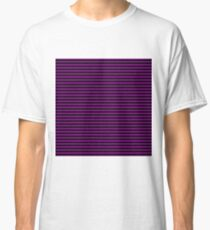 Small Zombie Purple and Black Horizontal Witch Stripes Classic T-Shirt
