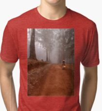 UP CLOSE: THE  BICYCLE MAN AND THE LANTERN Tri-blend T-Shirt