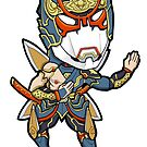 Tiger and Bunny - Origami Cyclone Chibi Tiger & Bunny by Zphal