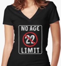 No Age Limit 22nd Birthday Gifts Funny B Day For 22 Year Old Womens Fitted