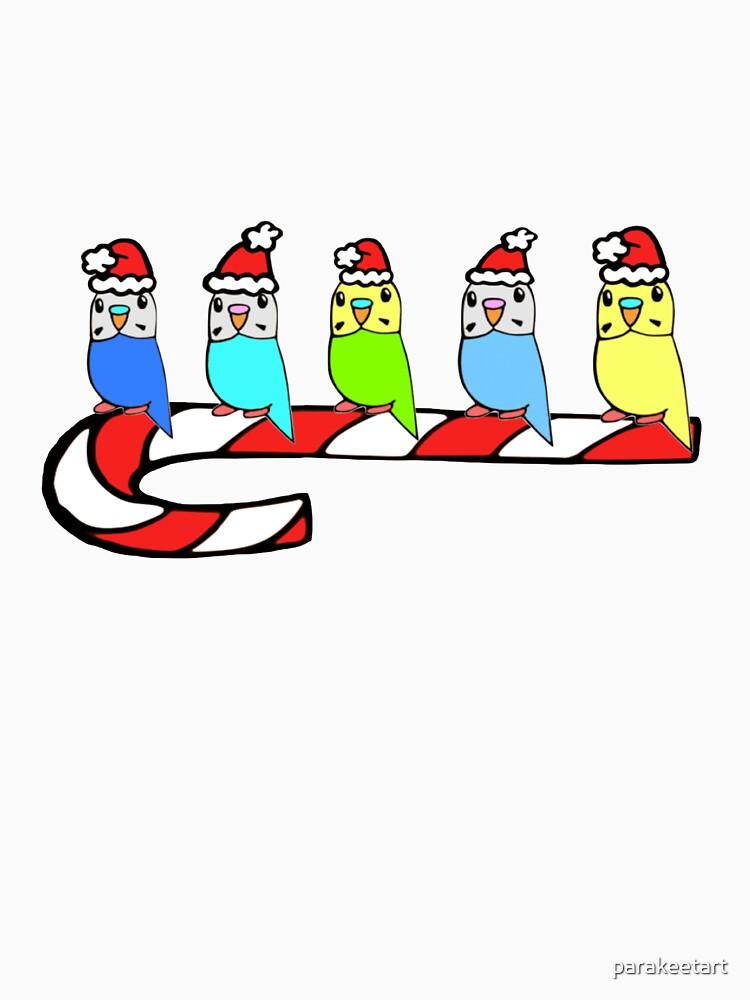 Budgies- Christmas by parakeetart