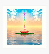 Holy Lotus - The Seven Chackren Urversion I Art Print