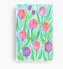 Bright Spring Tulips Canvas Print