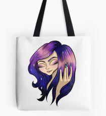 Galaxy hair Tote Bag