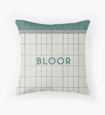 BLOOR Subway Station Throw Pillow
