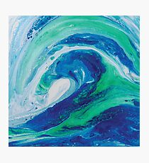 Wave Painting 1 Photographic Print
