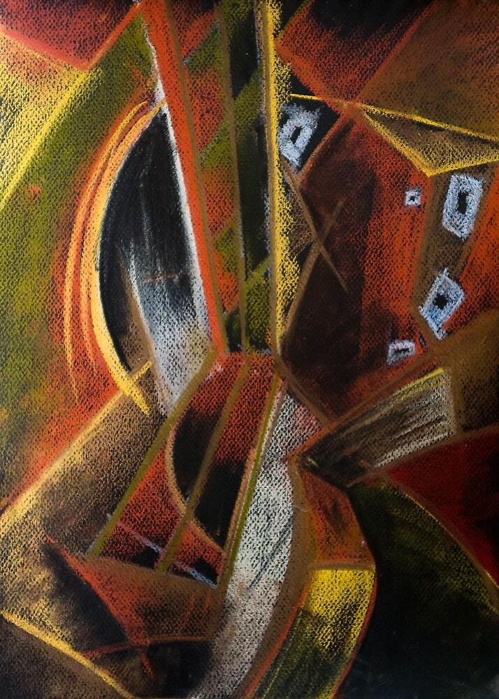 Guitar Cubista by John Rodriguez