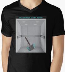 The elevator is not worthy Men's V-Neck T-Shirt