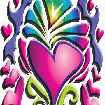 Retro Heart by garmsink