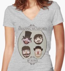 The Amazing Mumford and Sons Women's Fitted V-Neck T-Shirt