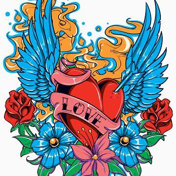Winged Heart Love by garmsink