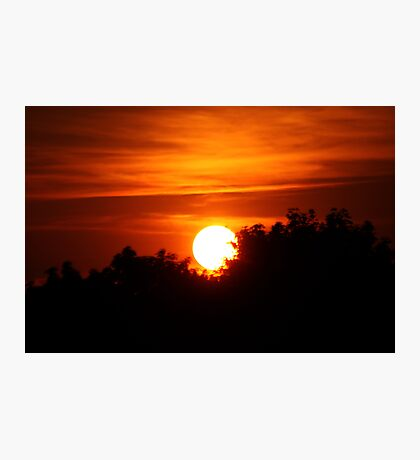 Silhouetted Sunset Photographic Print