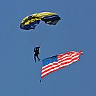 Parachuting with the Flag by Donna R. Cole