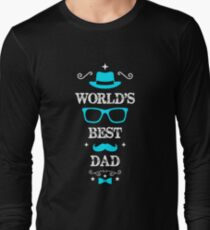Father's Day worlds best dad Long Sleeve T-Shirt