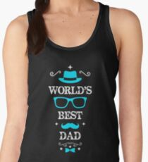 Father's Day worlds best dad Women's Tank Top