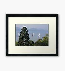 Tranquil sailing II Framed Print