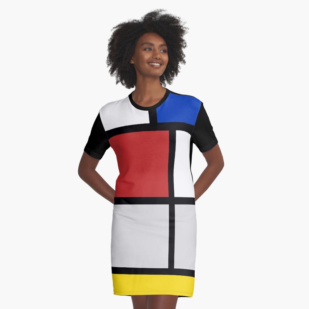 De Stijl Kunstwerke - Mondriaan T-Shirt Kleid