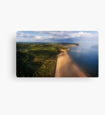 Aerial view of Oxwich Bay  Canvas Print