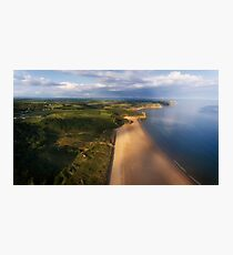 Aerial view of Oxwich Bay  Photographic Print