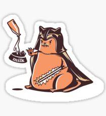 wicked cat darth vader Sticker