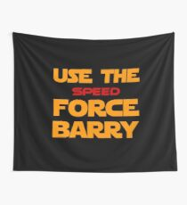 Force of Two Worlds (Text Only) Wall Tapestry
