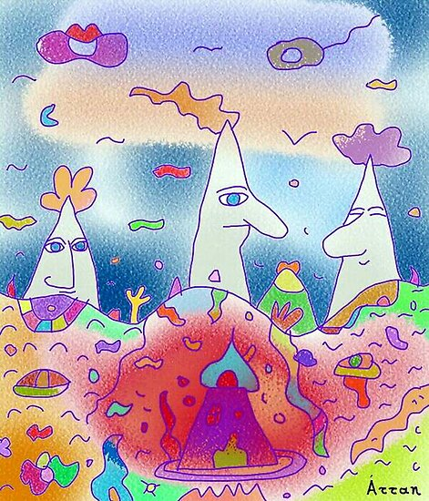"""3 mountains"" - Children Colorful Fantasy Stories by John Kalokyris (Arran)"