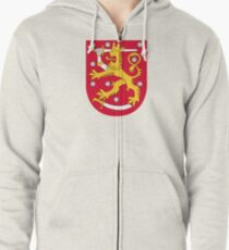 Coat of arms of Finland Zipped Hoodie