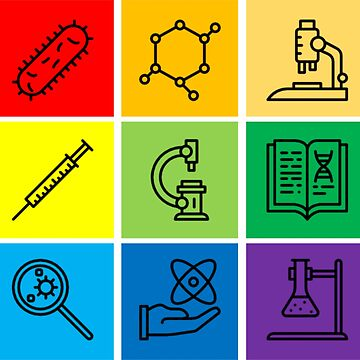 Rainbow Pride Science Icons by MoPaws