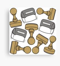 Rubber stamps Canvas Print