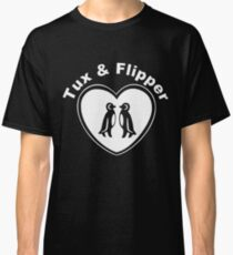 Tux And Flipper Classic T-Shirt