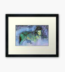 Grey Wolves Framed Print