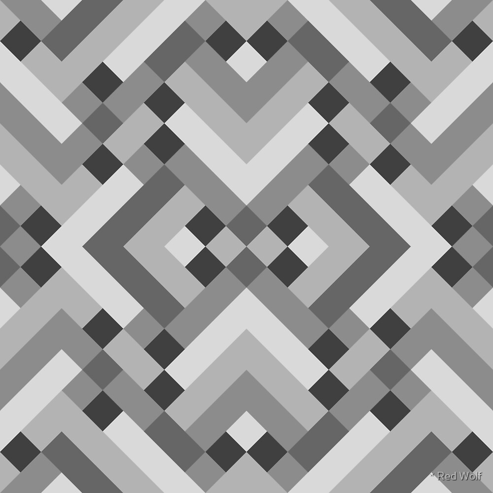 Geometric Pattern: Woven Rug: Grey by * Red Wolf