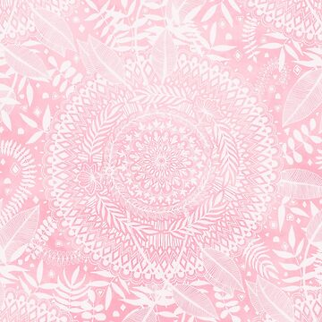 Medallion Pattern in Blush Pink by micklyn