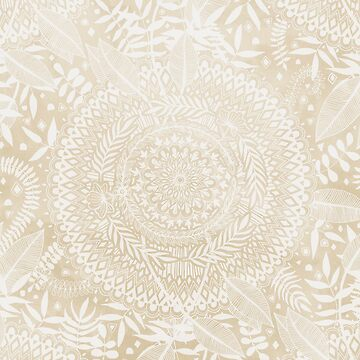 Medallion Pattern in Pale Tan by micklyn