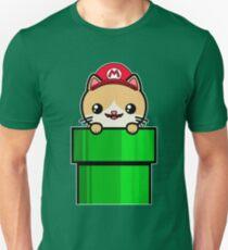 Kawaii Cat Cute Funny Mario Parody Unisex T-Shirt