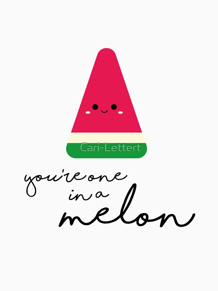 63a76411f18 You re one in a melon - cute water melon quote gift for Valentines ...
