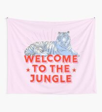 Retro Tiger - welcome to the jungle Wall Tapestry