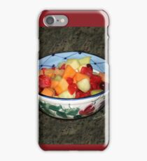 A Salad of Fruit in a Painted Bowl iPhone Case/Skin